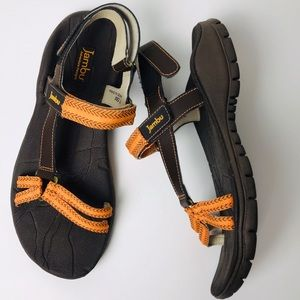 Bambú sandals orange and brown 7.5M